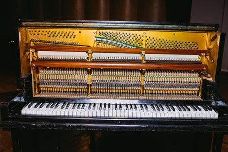 Beautiful piano in concert hall Stok Fotoğraf