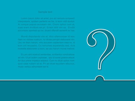 FAQ  Question sign white on a blue background.  Vector illustration.