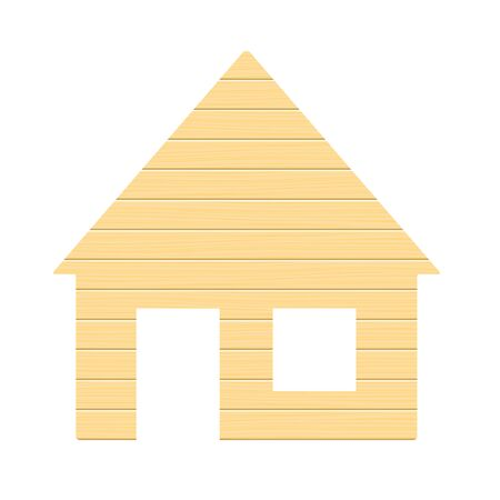 blockhouse: Wooden house, isolated on white background. Vector illustration.