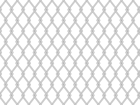 Chainlink fence on a white background. Vector illustration.