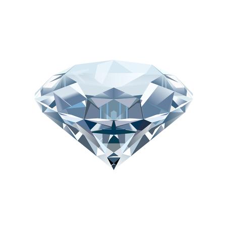 Realistic isolated diamond on a white background. Vector illustration. Reklamní fotografie - 84935587