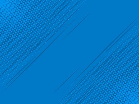 ポップアート コミック背景稲妻ブラスト ブルー ハーフトーン パターン