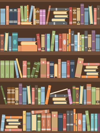 Bücher im Bücherregal. Lesesaal der Bibliothek
