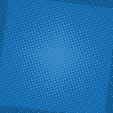 Comic blue background. Halftone dot pop art retro style