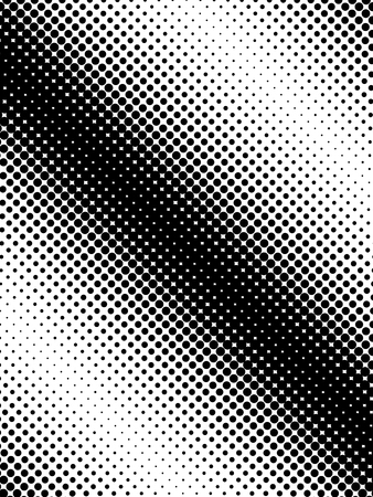 Diagonal halftone dots vertical pattern. Vector illustration on white background. Ilustrace
