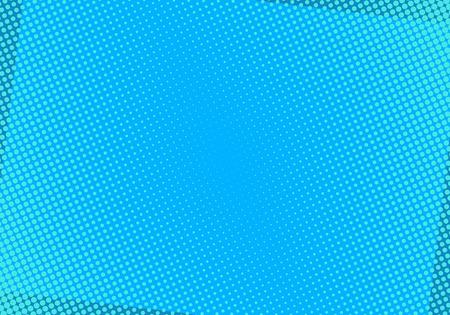 Fondo cómico azul con puntos de semitono. Ilustración de vector de arte pop.