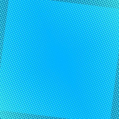 Blauer komischer Hintergrund mit Halbtonpunkten. Pop-Art-Vektor-Illustration. Vektorgrafik