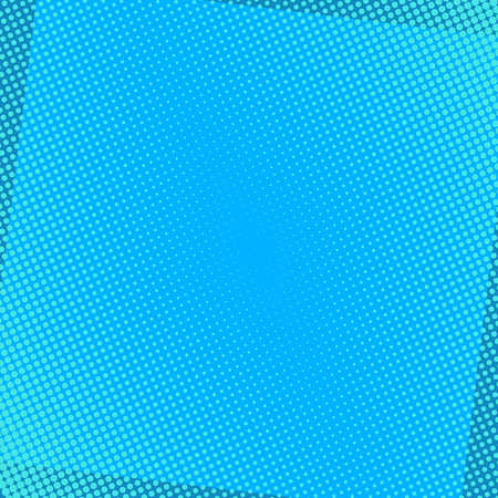 Sfondo comico blu con punti mezzatinta. Illustrazione di vettore di arte di schiocco. Vettoriali