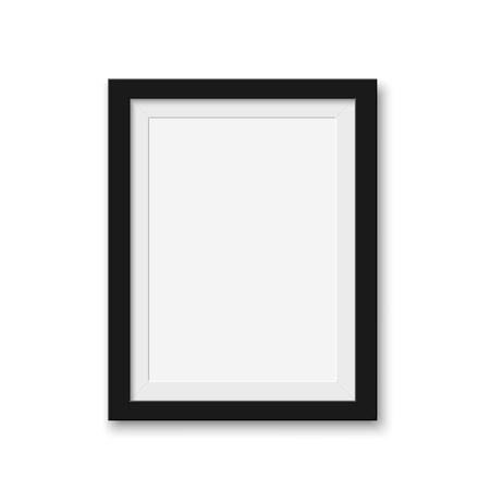 Mock-up leeren Bilderrahmen für Fotos. Isolierte Vektor-Illustration auf weißem Hintergrund.
