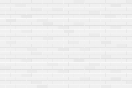 White brick wall texture seamless geometric pattern of bricks