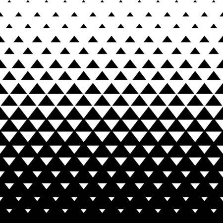 Triángulo de patrones sin fisuras. Fondo triangular abstracto. Ilustración de vector