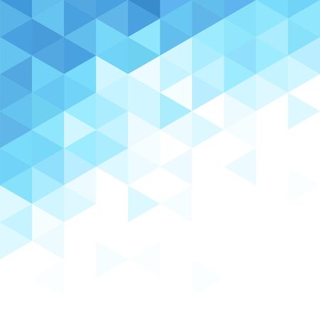 Abstract triangular background. Blue geometric pattern.