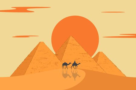 Egypt great pyramids. Cairo, Giza is a historical place.