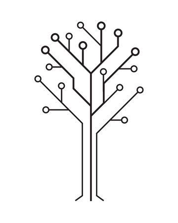 Circuit board tree.  Hi-tech digital computer electronic desing.