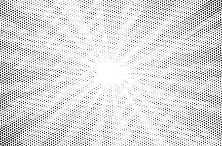 Pop art comic background lightning blast halftone dots. Cartoon Vector Illustration