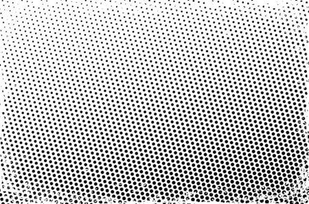 Grunge halftone frame. Scratched dots background. Illusztráció