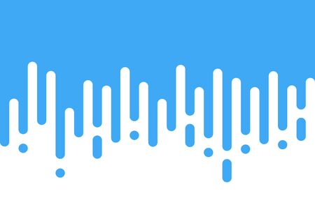 Blue rounded lines background. Abstract dashed lines and dots.