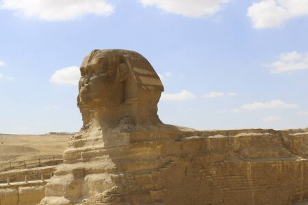 Portrait of the Great Sphinx of Egypt close. Stock fotó