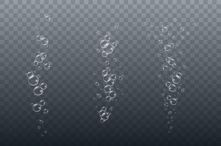 Air bubbles underwater on a transparent Illusztráció