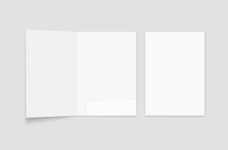 File folder mockup. Folder for paper format A 4 Illusztráció