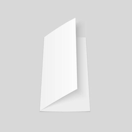 Blank half fold brochure mock up. Flyer or booklet template. Illusztráció