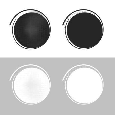 Glued blank stickers. Vector illustration.