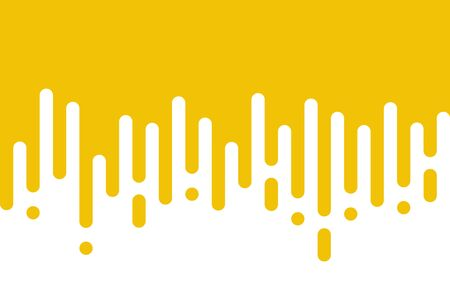 Yellow rounded lines background. Abstract dashed lines and dots.