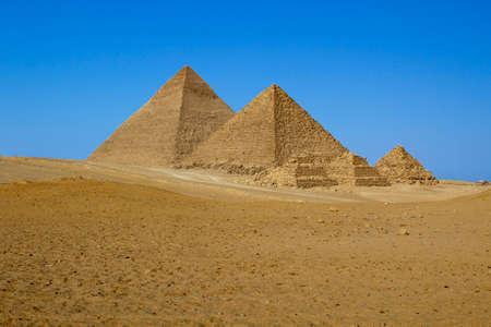 Great Pyramids of Giza, Egypt. Standard-Bild
