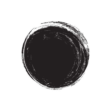 Grunge circle. Black vector scratched round texture. Иллюстрация