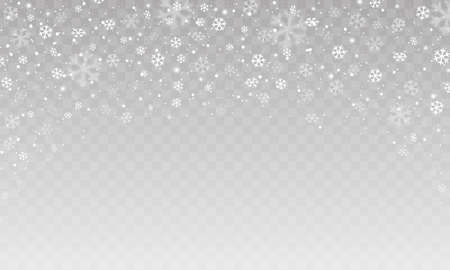 Christmas falling snow. Winter background with snowflakes