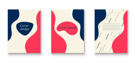 Brochures and flyers cover. Abstract background of rounded shapes. Smooth lines cover design.