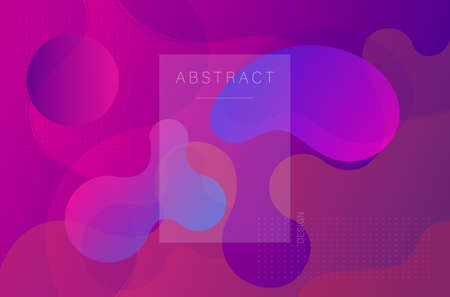 Abstract fluid shapes. Neon purple wave background. Trendy geometric design.