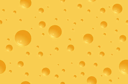 Seamless cheese texture with holes. Realistic cheese background.
