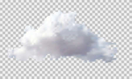 Cloud in the transparent background. Isolated vector illustration.