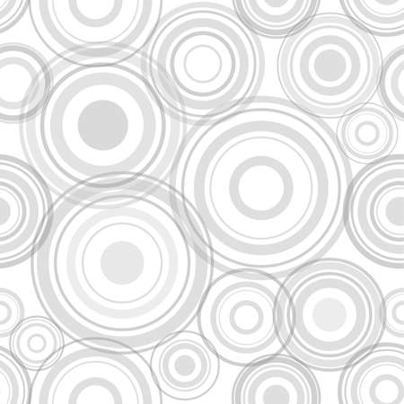 Circles seamless pattern. Blue circles on a white background. Trendy geometric design. Illustration