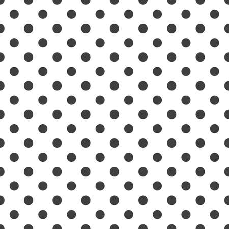 Circles seamless pattern. Black circles on a white background. Trendy geometric design.