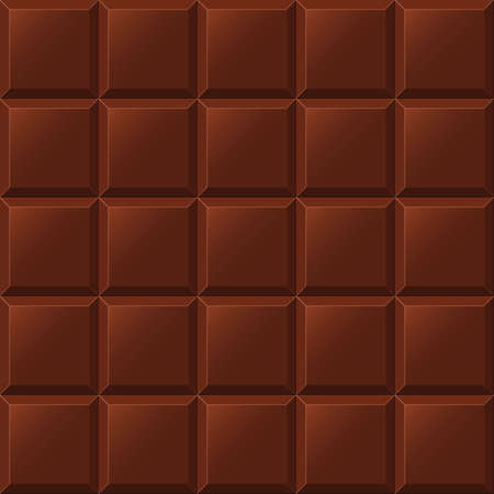 Chocolate bar seamless pattern. Realistic vector illustration.