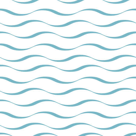Waves seamless pattern. Abstract background of rounded line. Trendy geometric design.