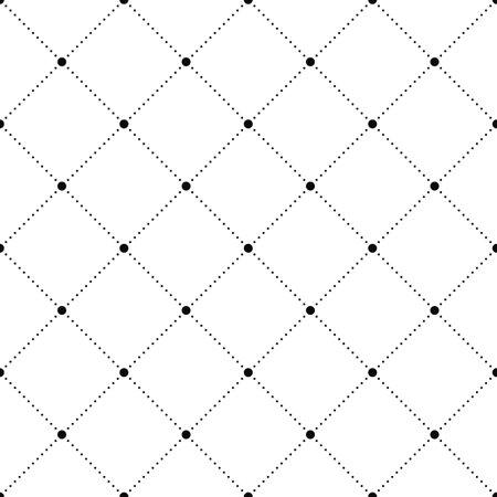 Dots seamless pattern. Geometric figure rhombus from dots background.