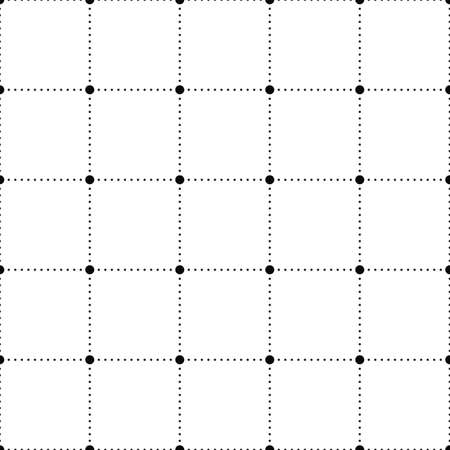 Dots seamless pattern. Geometric figure square from dots background.