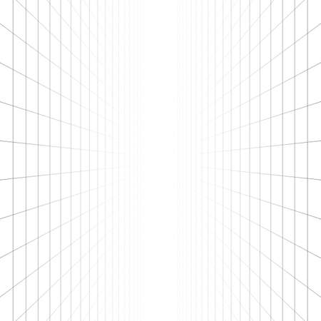 Vector perspective grid. Abstract wireframe landscape. 3d vector illustration.