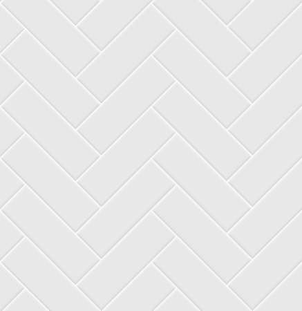 White ceramic tile herringbone seamless pattern. Parquet texture. Standard-Bild - 165499164