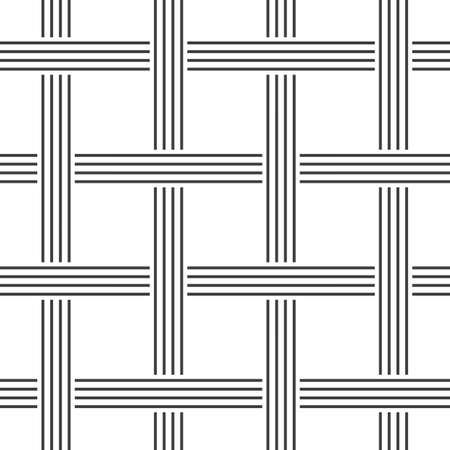 Crossing lines seamless pattern. Vector geometric background.