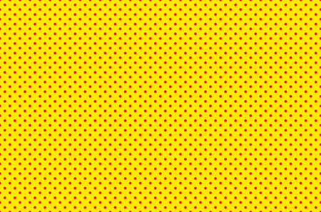 Pop art seamless background. Yellow red comic halftone dots.