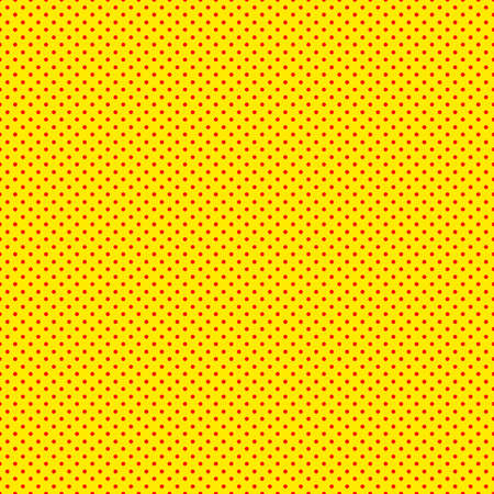 Pop art seamless background. Yellow red comic halftone dots. Illustration