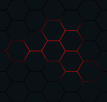 Black hexagon seamless pattern. Abstract hexagonal background. Standard-Bild - 165922699