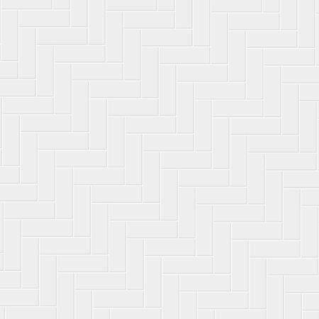 White ceramic tile herringbone pattern. Parquet texture.