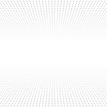 Perspective grid halftone dots. Board with black grid on a white background.
