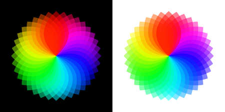 Color wheel palette. RGB color model with Intersecting red, green and blue circles. Semitransparent mixing mode