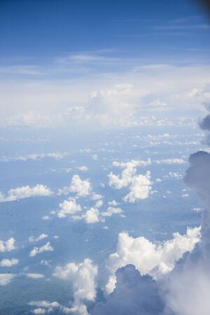 vertices: The clouds in the sky. The view from the window of the plane.